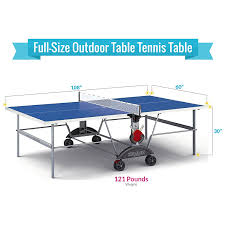 how much is a ping pong table amazon com kettler top star xl weatherproof table tennis table