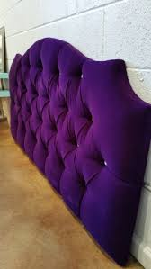 Queen Headboard Upholstered by Queen Tufted Upholstered Headboard Purple Velvet Crystal Buttons