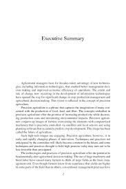 executive summary precision agriculture in the 21st century
