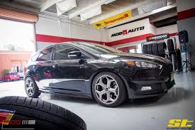 sick lowered cars crom u0027s focus st gets low on st coilovers at modauto