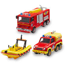 fireman sam diecast vehicles 3 pack toys
