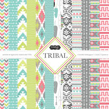 Scrapbook Paper Packs Scrapbook Customs Tribal 12 X 12 Paper Pack