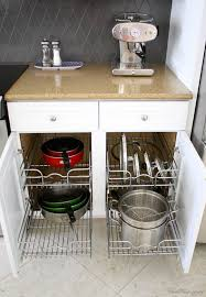 kitchen cabinet organizers for pots and pans how to organize pots and pans in kitchen cabinets best home ideas