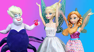 frozen elsa anna fairies 2 barbie mermaid