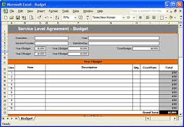 10 best images of service level agreement spreadsheet service