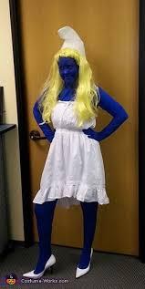 Smurf Halloween Costume Diy Smurfette Costume