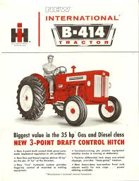 1962 ih b 414 utility tractor international harvester