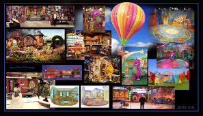 montage of my production design for home videos for barney