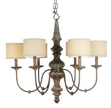 Rustic Chandeliers With Crystals Home Design Magnificent Linen Drum Shade Chandelier Shades With