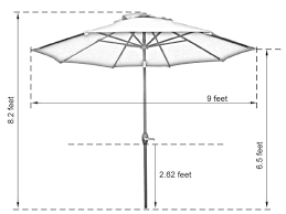 Patio Umbrella Canopy Replacement 8 Ribs by Ap9388ctbrn Abba Patio 9 Feet Sunbrella Fabric Patio Umbrella