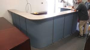 Herman Miller Reception Desk Miller U Shape Reception Counter Used