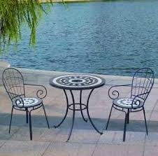 Mosaic Patio Furniture Garden U0026 Patio Sets Mosaic Table And Chairs Bistro Set Outdoor
