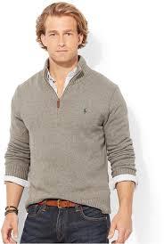 high sweaters polo ralph high twist cotton half zip mockneck sweater