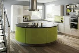 circular kitchen island white marble dining table sleek white wooden kitchen counter