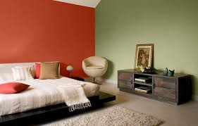 bedroom double colors for room paint by asian paints color