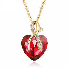 crystal heart necklace wholesale images China gold chain heart pendant wholesale alibaba jpg