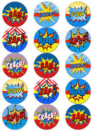 superman cake toppers comic talk v2 edible wafer paper toppers cupcake