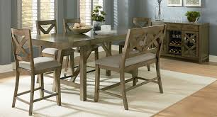 omaha counter height dining set w x back bench grey casual