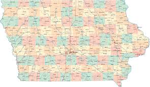 Usa Highway Map Iowa Highway Map Uptowncritters