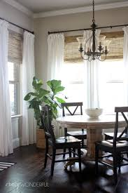 French Country Roman Shades - dining room curtains kitchen window curtain panels decorating