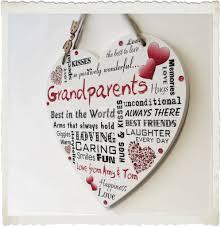 grandparent plaques grandparents personalised nanny nan grandad heart plaque present