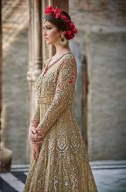 anarkali wedding dress gold brown designer heavy bridal anarkali suit saira s boutique