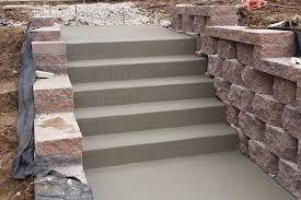 concrete steps in retaining wall truecrete