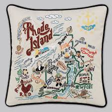 rhode island state pillow by catstudio home kitchen