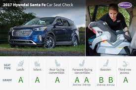 hyundai santa fe 3 child seats 2017 hyundai santa fe car seat check cars com