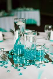 center pieces turquoise decorations for weddings wedding corners