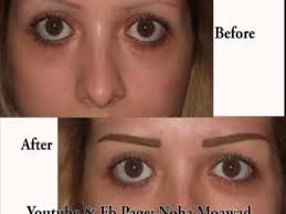 eyebrows tattoo pictures before and after by noha moawad beauty