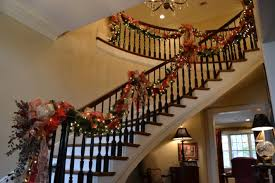 Banister Christmas Ideas Stair Banister Christmas Garland Staircase Gallery