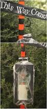 Cute Halloween Yard Stakes by Diy Halloween Spooky Lantern Sign Post