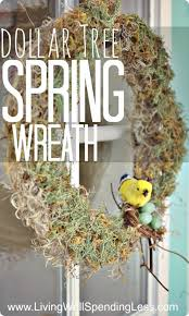 dollar tree moss wreath living well spending less