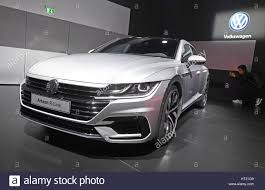 volkswagen geneva geneva switzerland 6th mar 2017 a vw arteon gets presented at