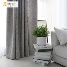 tende casa moderna dihin casa moderna grigio colore panno di lino tende per il salone