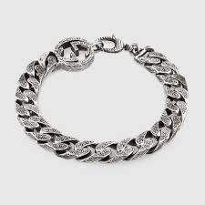mens silver bracelet chain images Interlocking g chain bracelet in silver gucci silver bracelets jpg