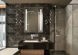Bathroom Mirror With Lights Built In Bathroom Mirrors With Built In Led Lights Mirror Light Lighting