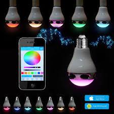 Bluetooth Light Bulb Speaker Bluetooth Control Music Audio Speaker Led Rgb Color Bulb Light