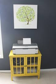 craft room storage solutions part one yellow printer cabinet