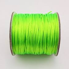 rattail cord 1 5mm satin rattail cord thread knot green neon color
