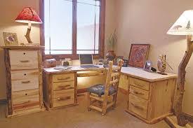 Pine Home Office Furniture Rustic Log Office Furniture Aspen Pine Log Desks Log Bookcases