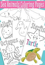 coloring in pages animals and sea animals coloring pages free printable easy peasy