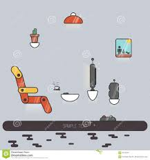 illustration of futuristic living room stock vector image 87100941