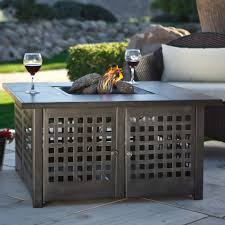 Patio Furniture With Fire Pit Set - red ember 38 in whitesands square gas fire pit hayneedle