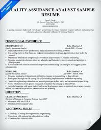 quality assurance resume resume sles for quality assurance specialist danaya us