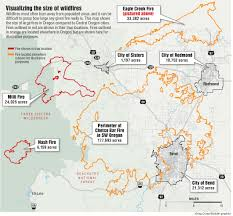 Burns Oregon Map How Big Are Oregon U0027s Wildfires This Summer Has Been One Of The