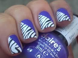 zebra nail art designs u2013 acrylic nail designs