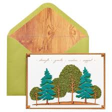 papyrus forest s day card with foil target