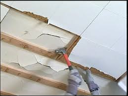 Ceiling Tile Installation How To Attach Ceiling Tiles Www Energywarden Net